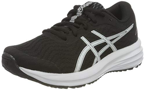 Asics Patriot 12 GS, Road Running Shoe, Black/White, 39 EU