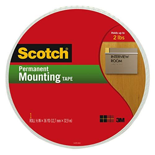 3M Scotch R Ruban de montage en mousse double face Multicolore 25,4 x 19,3 x 2,03 cm