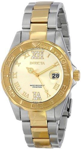 Invicta Women's 17021 Pro Diver Analog Display Japanese Quartz Two Tone Watch