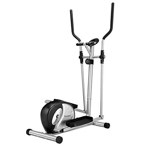 CHENSHJI Entrenador Máquina Elíptica Smooth Slimal Drived for Home Moveme Gym Ejercicio para el Entrenador de Fitness para Caminar Muscular Elípticas (Color : Silver, Size : OneSize)