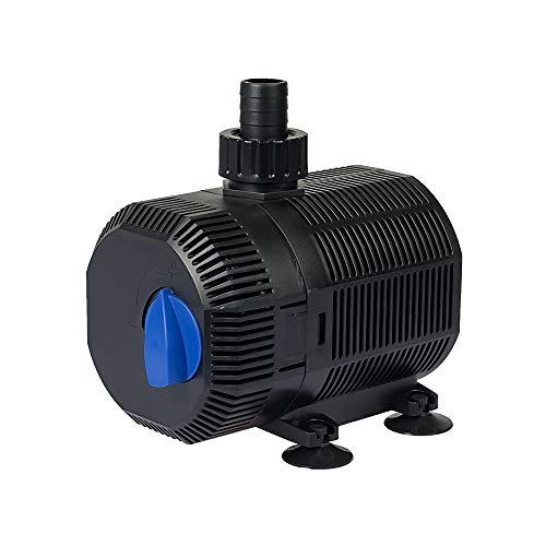 Yorbay CQB-2000 Teichpumpe Super ECO 35W 2300l/h mit 10m Stromkabel Bachlaufpumpe für Garten, Teiche, Süß- und Meerwasser