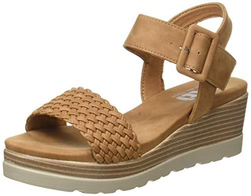 XTI 44003.0, Sandalias con Plataforma Mujer, Marrón (Camel Camel), 39 EU