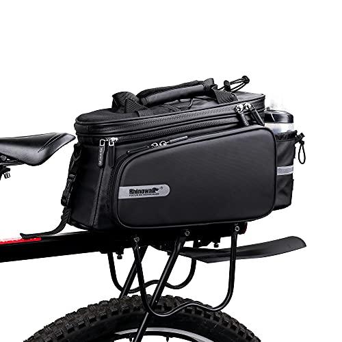 WILDKEN Bolsa Alforja Trasera para Bicicleta Portátil Extensible Bolsa Impermeable Bolso de Viaje para Ciclismo, Viajes, Diario, Camping y Al Aire Libre