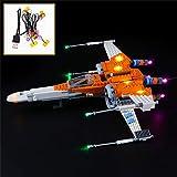 QJXF Juego de Luces USB Compatible con ala-X 75273 de Lego Star Wars PoE Dameron, LED Light Kit de (ala-X) de Bloques de creación de Modelos (no Incluido Modelo)