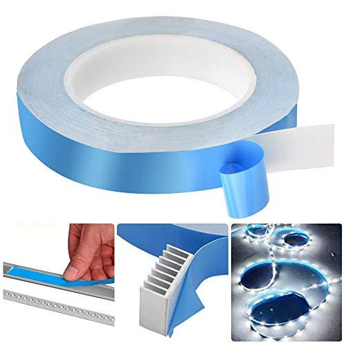 WANTOUTH Thermisches Klebeband Wärmeleitendes Doppelseitiges Klebeband Wärmeleitendes Kühlendes Band Blau Selbstklebend Wärmeleitband Tape für integrierte Schaltungen, Kühlkörper LED, 25m x 20mm