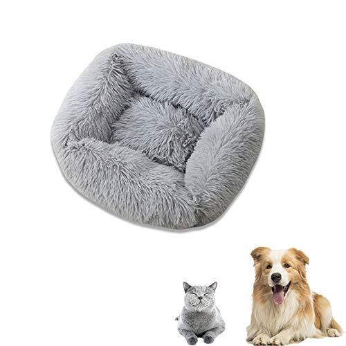YBBT Rundes Hundebett, Hundekorb, Katzenkissen, weich und bequem, waschbar, rutschfest, für Katzen, geeignet für mittlere und große Katzen und Welpen
