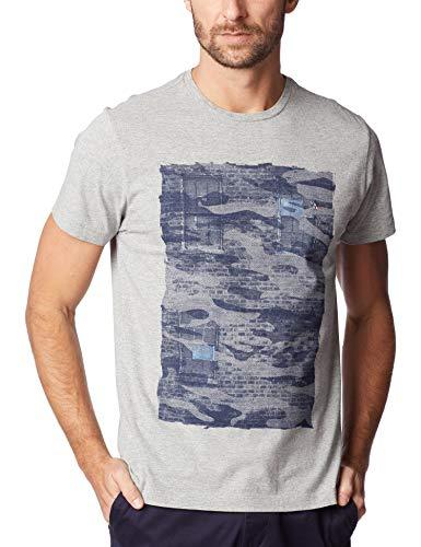 Camiseta Cidade Camuflada, Aramis, Masculino, Cinza Mescla, P