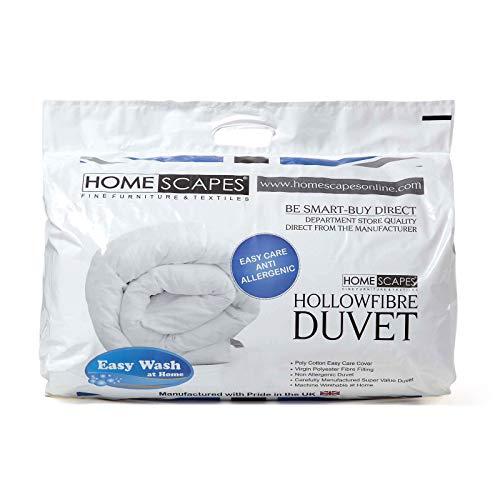 Homescapes extra warme Winter-Bettdecke 135 cm x 200 cm Wärmeklasse 5-6, Marken-Hohlfaser, Steppbettdecke, hypoallergen