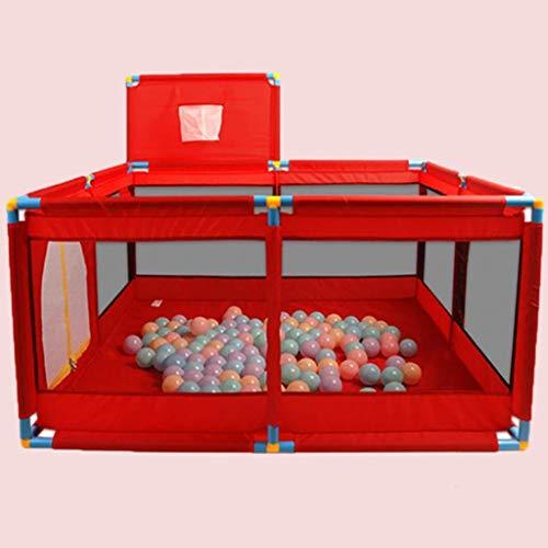 JPVGIA Clôture de Jeu intérieure pour Enfants Ball Pool Marine Home Baby Toddler Safety Fence Clôture Baby Crawling Mat (Color : Red)