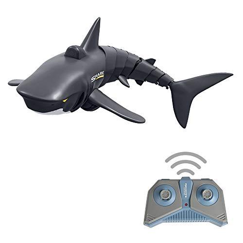 Goolsky Mini RC Shark Fernbedienung Spielzeug Schwimmspielzeug Unterwasser RC Boot Elektro Rennboot Parodie Spielzeug Pool