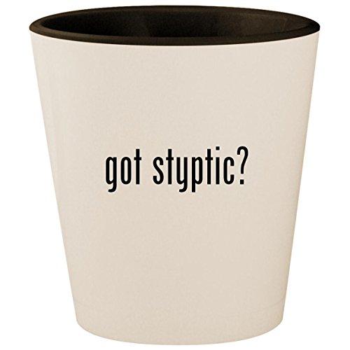 got styptic? - White Outer & Black Inner Ceramic 1.5oz Shot Glass