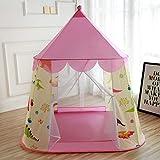 HGA Tienda Tipi Wigwam Al Aire Libre para Niños Tienda para Niños Piscina De Bolas Cubierta Casa De Juegos Príncipe Y Princesa Casa De Muñecas,Pink