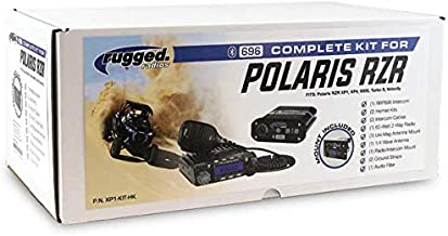 Intercomm System and Radio for Polaris RZR by RUGGED RADIOS with RRP 696 Bluetooth Intercomm RM-60 Radio Dash Mount Helmet kits and more