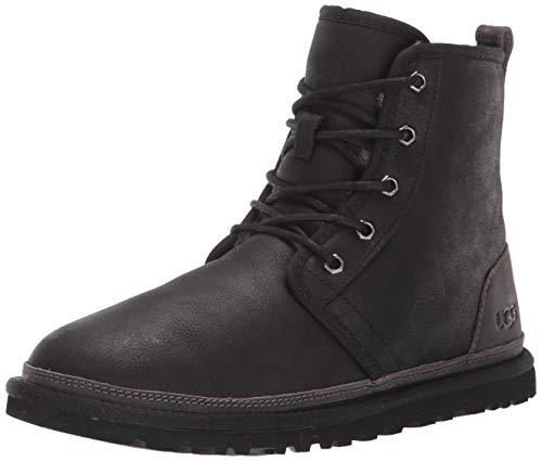 UGG Men's Harkley Leather Chukka Boot, Black Tnl, 5 M US