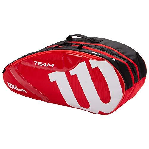 Wilson(ウイルソン) テニス バドミントン ラケットバッグ TEAMJ1.0 6PK (チームJ1.0 6パック) WR8008601001 RED/WHITE ラケット6本収納可能 ウィルソン