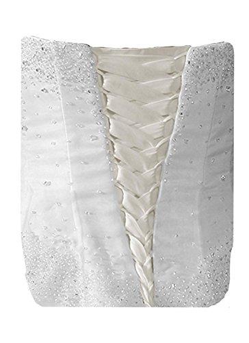 tutu.vivi Wedding Dress Zipper Replacement Adjustable Fit Corset Back Kit Lace Up Satin Ivory 24''