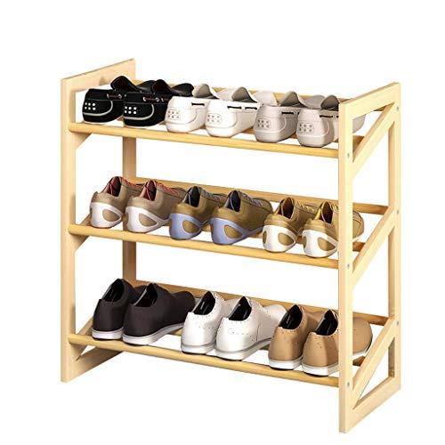 LLJHV Meuble à chaussures multicouche en bois massif avec porte - Petit meuble à chaussures - Pour la maison - Économique - Design : B