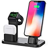 BEACOO Stand for iwatch 5/6, Charging Stand Dock Station for AirPods pro Stand Charging Docks Holder, Support for iwatch 5/4/3/2/1 NightStand Mode and for iPhone Series 12/11/X/7/7plus/SE/5s