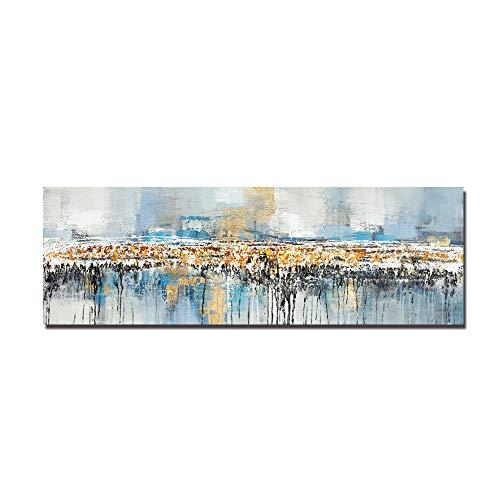 Modernos Del Arte Cuadro En Lienzo,Pintura Al Óleo Abstracta Sobre Lienzo Impresión De Póster Arte De Pared En Negro y Dorado Imágenes En La Pared Sala De Estar Cuadros Decoración(Sin Marco)