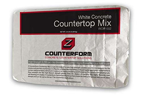 Concrete Countertop Mix - High Strength - White 50 lbs