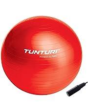 Tunturi Fitnessbal - Gymball - Swiss ball - 65 cm - Incl. pomp - Rood, cm:65
