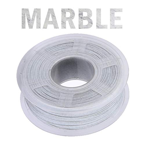 Hello PLA filament, 3D printer filament 1.75mm, realistic marble texture, used in 3D printer