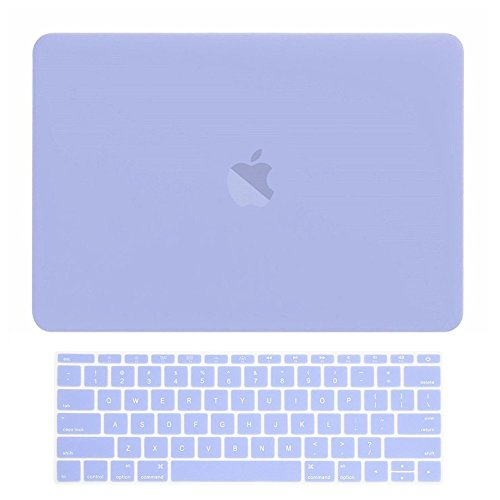 TOP CASE MacBook Pro 13 inch Case 2019 2018 2017 2016 Release Model: A1708 Without Touch Bar, 2 in 1 Signature Bundle Rubberized Hard Case + Keyboard Cover Compatible MacBook Pro 13', Serenity Blue