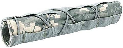 Gexgune Cubierta supresora Airsoft Military Shooting Silenciador táctico Cubierta de liberación rápida Shooting Muffler Baffler Protector