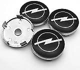 4 Piezas Tapacubos, para OPEL Corsa e Ampera Astra Insignia Combo Vivaro Mokka 60mm Auto Protección Accesorios Prueba Polvo Impermeable Tapacubos Modificadas Accesorios