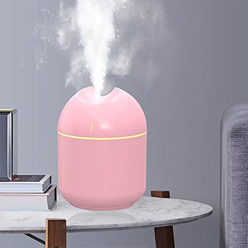 CUIFULI - Umidificatore a nebbia fredda, 300 ml, umidificatore silenzioso, per camera da letto e piccole stanze, spegnimento automatico, porta USB, portatile, per bambini e bambini
