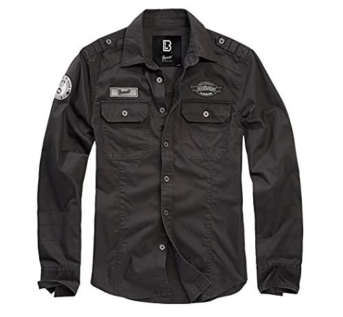 Brandit Herren Hemden Luis Vintage schwarz M