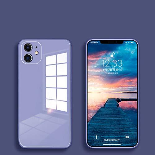 FYMIJJ Estuche de Vidrio líquido para iPhone 12 11 Pro X XS MAX XR SE2 7 8 Plus Estuche Protector de contraportada Colorido anticaída Resistente a los arañazos, Morado, para iPhone 6P 6sPlus