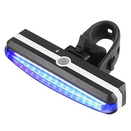 chenpaif Fahrrad Rücklicht, Ultra Bright Fahrradlicht USB Wiederaufladbares Fahrrad Rücklicht Hochintensive Heck LED Nacht Outdoor Radfahren Sicherheit Taschenlampe Rot und Blau Dimmen
