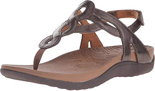Rockport Cobb Hill Women's Ramona-CH Flat Sandal, Bronze, 8 W US