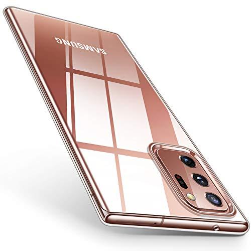 TORRAS Crystal Clear Hülle Kompatibel mit Samsung Galaxy Note 20 Ultra Dünn Vergelbsfrei Stoßfest Note 20 Ultra Hülle Durchsichtig Weiches Silikon Kratzfest Handyhülle Note 20 Ultra - Transparent