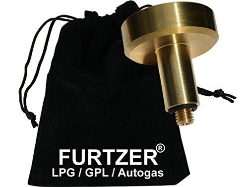 Furtzer® LPG GPL Autogas Tankadapter M10 DISH kurze Version (ca. 60mm) mit Stoffbeutel