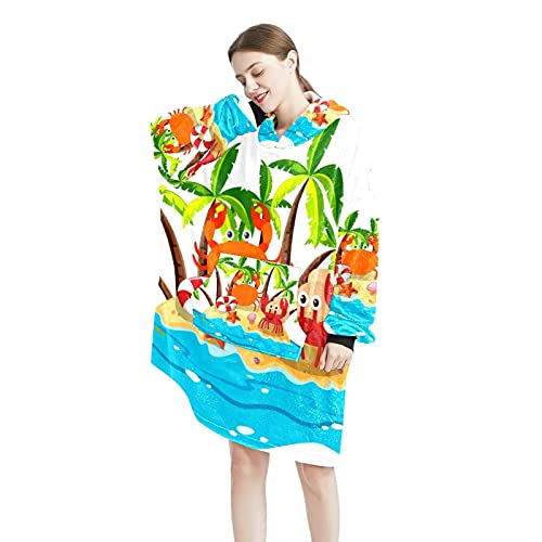 Star StripeBlanket Sudadera con capucha suave con capucha para mujer y hombre, talla única, Color-2, Talla única