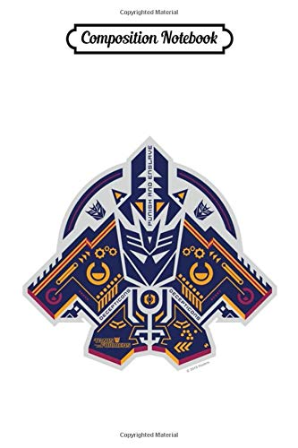 Composition Notebook: Transformers Hi-Tech Tribal Decepticon Symbol Autobot the Transformers Cybertron Led by Optimus Prime Toys Cartoons Movies Journal/Notebook Blank Lined Ruled 6x9 100 Pages