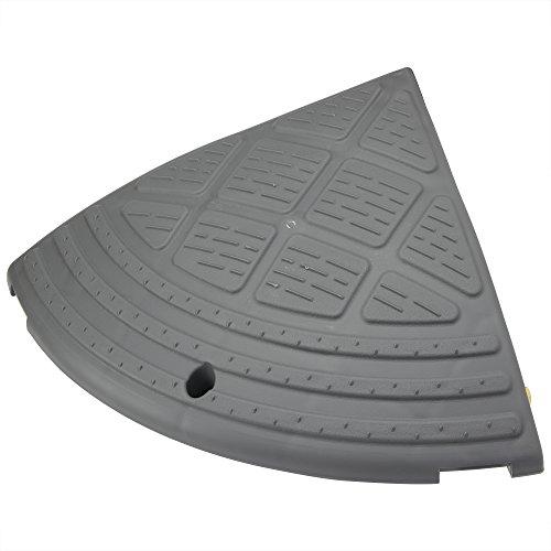 アイリスオーヤマ 段差 スロープ プレート コーナー用  段差 15cm NDP-340CE ゴム製 グレー