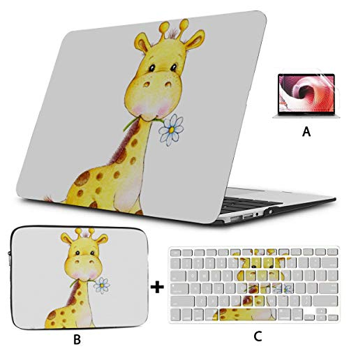 Mac Book Cases Cool Giraffe Baby Kids Animal Macbook 15 Case Hard Shell Mac Air 11'/13' Pro 13'/15'/16' With Notebook Sleeve Bag For Macbook 2008-2020 Version