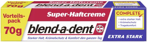 Blend-a-dent Super-Haftcreme extra stark 70g, 3er Pack (3 x 70 g)