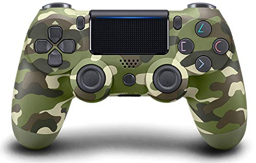 Tek Styz PRO Wireless Controller Works for Canon EOS M5 EF-M with 1,000mAh Battery/Built-in Speaker/Gyro/Motor Remote Bluetooth Slim Gamepad (Green Camouflage)
