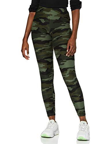 Urban Classics Damen und Mädchen Camo Leggings, lange Camouflage Sporthose für Frauen, Yogahose, wood camo, XS