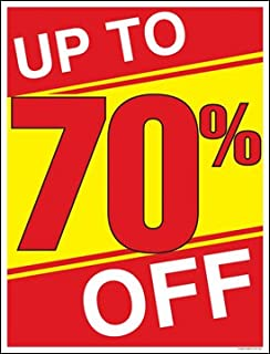 Up to 70 Percent Off (%) Sale Window Sale Sign Posters Retail Business Store Signs (P15 - 22