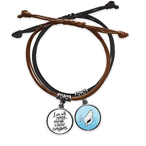 DIYthinker - Pulsera de cuerda, diseño con texto 'Je ne suis Pas Jeune enouth'