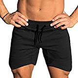COOFANDY Men's Workout Gym Shorts Weightlifting Bodybuilding Squatting Fitness Jogger with Pockets Black