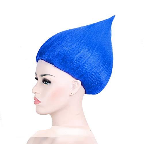 BERON Flame Shape Hair Cosplay Costume Party Wig Blue Halloween Wig (Fashion Blue)