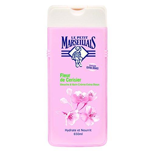 Le Petit Marseillais - Douche & Bain, Crème Extra Doux, Fleur de Cerisier - Le Flacon de 650ml - (pour la quantité Plus Que 1 Nous Vous remboursons Le