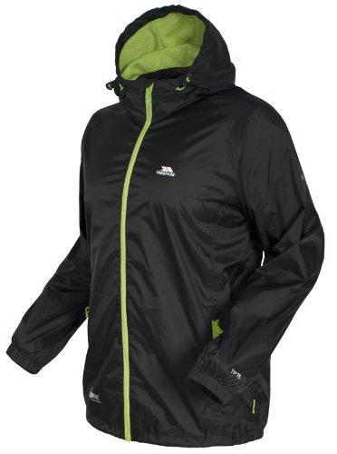 Trespass Unisex-Adult Qikpac Lightweight Jacket with Hood, Black, Large