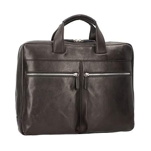 LEONHARD HEYDEN Amsterdam 2 Handle Briefcase Black